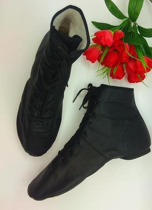 Кожаные туфли ботинки кроссовки джазовки для танцев alegra р 4...