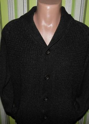 Мужской свитер кофта на пуговицах-f&f-l-откидной воротник-новый!