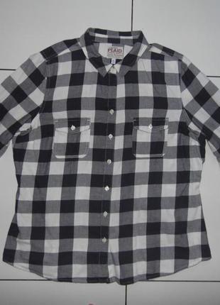 Рубашка- клеточка - коттон -old navy - plaid - xl