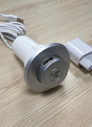USB встраиваемое зарядное устройство 3в1