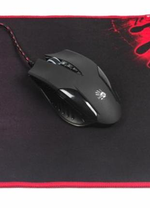 Мышь A4Tech Q5081S Bloody Black USB + коврик