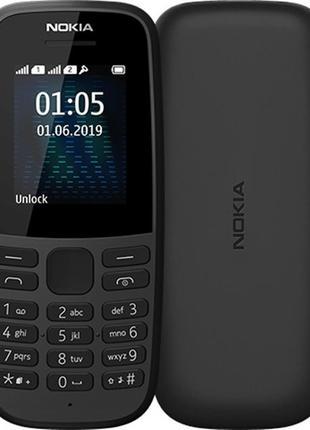 Мобильный телефон Nokia 105 2019 Dual Sim Black, 1.77 (160x128...