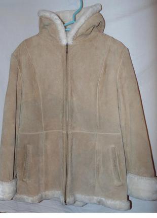 Пальто куртка дубленка замшевая исскуственный мех в идеальном ...