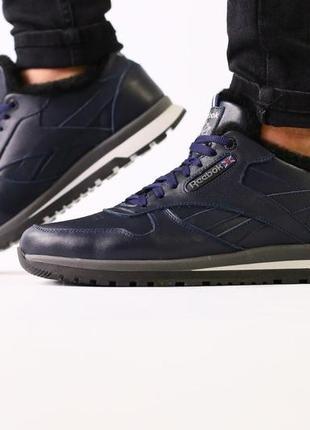 Lux обувь! стильные натуральные зимние кроссовки на меху
