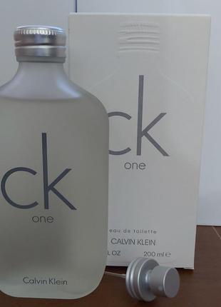 Оригинал! туалетная вода calvin klein ck one 200 мл