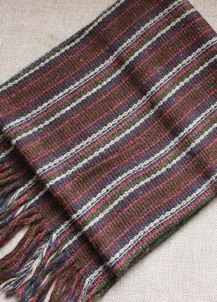 Мужской шарф тканый чоловічий шарф кашне тренд