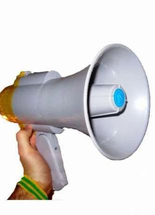 Громкоговоритель рупор мегафон 15Вт HW-8c с записью
