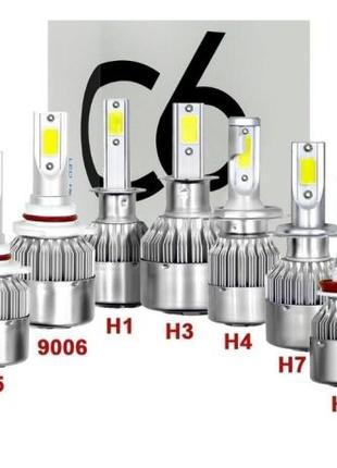 Светодиодние лампы Led C6 H1, H3, H7, H11, H4, туманки цена за...