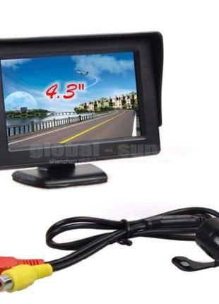 """Автомобильный монитор TFT LCD 4.3"""" два видеовхода камеры задне..."""