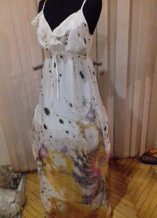 Платье в пол)шелк)