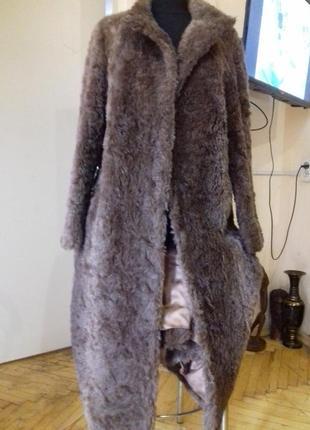 Шуба пальто)шерсть лама