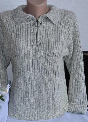 Брендовая вязаная теплая кофта свитер x.y.z акрил