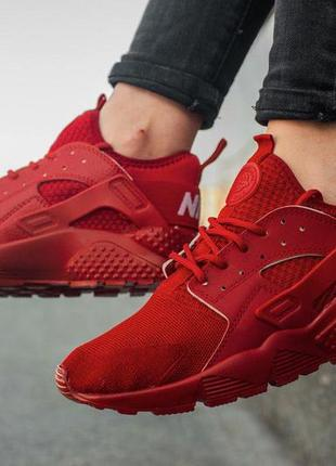Легкие кроссовки nike air huarache ultra red