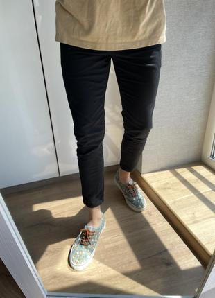 Мужские черные зауженные классический повседневные штаны брюки...