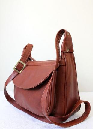 Кожаная  сумка через плечо visconti