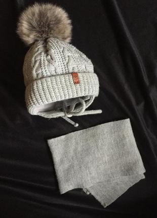 Шапка шарф, комплект