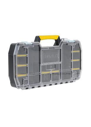 Ящик Stanley (кассетница 61 x 9,5 x 33см) крышка из поликарбоната