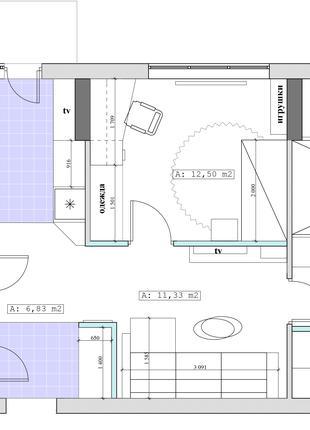 5 вариантов перепланировки квартиры или офиса с расстановкой м...