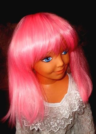Парик маскарадный модная прическа светло-розовые волосы