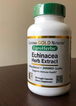 California Gold Nutrition, EuroHerbs, экстракт эхинацеи, 180 капс
