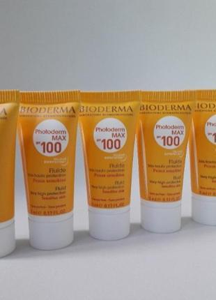 Солнцезащитный крем флюид спф 100 bioderma photoderm max spf 100