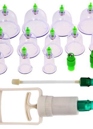 Вакуумные антицеллюлитные массажные банки 12 штук