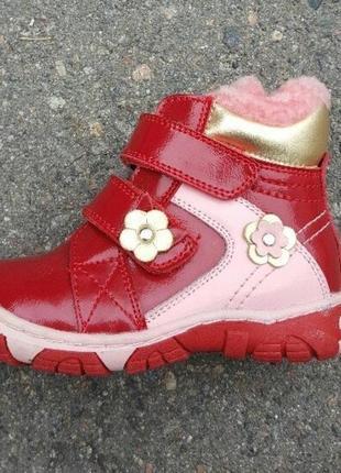 Натуральные зимние ботинки шалунишка