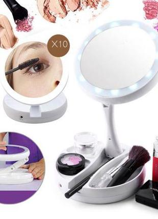 My Fold Away Mirror (Зеркало с подсветкой и увеличением для ма...