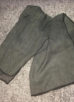 Платок шарф серый чёрный прозрачный