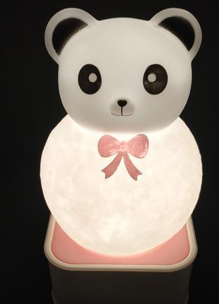 Ночник Медведь Панда (voice control night light) 18 см