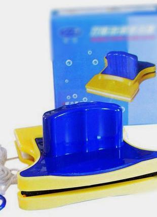 Магнитная двусторонняя щетка для мытья стекол Double Sided Gla...