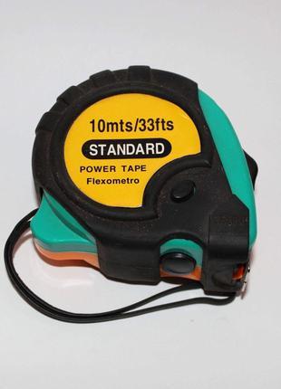 Рулетка Стандарт с магнитом 10м