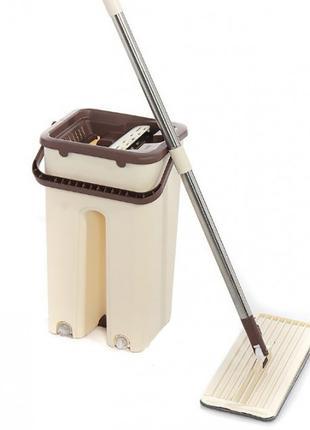 Швабра с ведром Scratch Cleaning Mop 00081, автоматический отжим