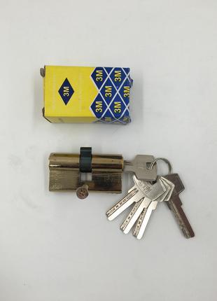Дверной цилиндр 60 мм 5 ключей лазер