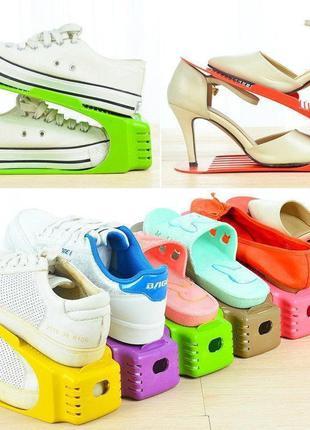 Регулируемая подставка для обуви. Складная