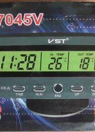 Часы автомобильные VST 7045v (160)