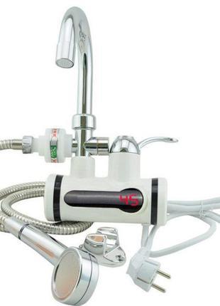 Кран электрический проточный водонагреватель DELIMANO с душем ...