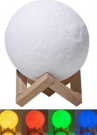 Настольный светильник Magic 3D Moon БЕЛЫЙ Lightt (48)