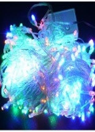 Гирлянда диод 200LED (RD-9032) Провод-Белый, Цвет ламп-Синий (50)