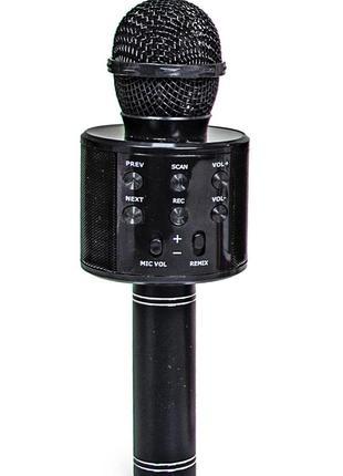 Беспроводной микрофон-караоке WSTER WS-858. Черный