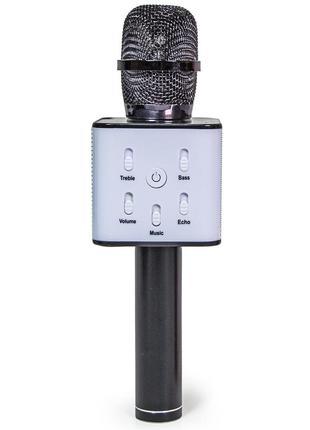 Беспроводной bluetooth караоке микрофон Kronos Karaoke Q7. Черный