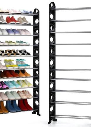 Полка для обуви органайзер TIES SHOE RACK, 10 полок (6)