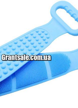 Массажер для тела СИНИЙ Food grate silica gel bath tower (100)