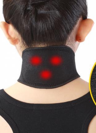 Турмалиновый шейный бандаж с магнитами Self heating neck guard...