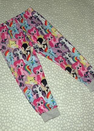 Флисовые штаны пони 3-4 года