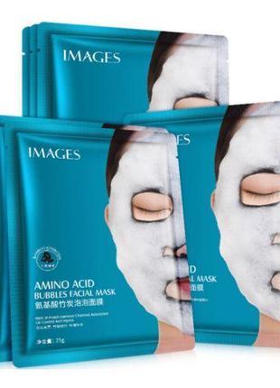 Очищающая тканевая кислородная маска для лица IMAGES BUBBLES M...