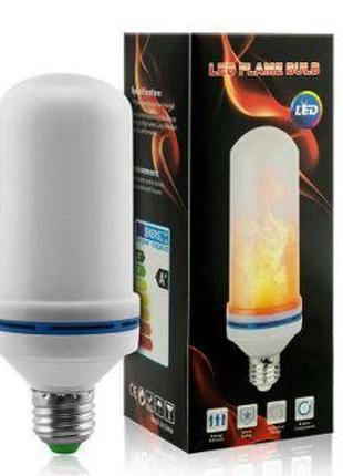 Лампа LED Flame Bulb А+ с эффектом пламени огня, E27 (100)