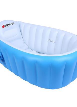 Надувная ванночка СИНЯЯ Intime Baby Bath Tub (20)
