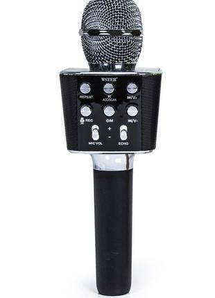 Беспроводной микрофон-караоке WS-1688 Черный