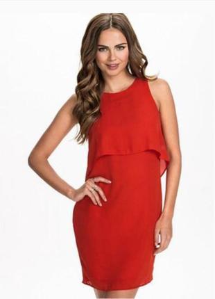 Платье красное new look размер 10/12